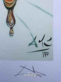 Salvador DALI Montre Molle LITHOGRAPHIE numérotée et signée, 500ex