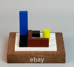 Sculpture En Bois Polychrome Abstraction Neoplasticisme Signee Numerotee (10)