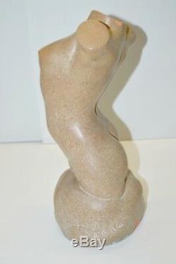 Sculpture Terre Cuite Art Deco Buste Feminin Signe R. Pollin Numerotee 1475
