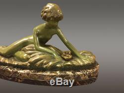 Sculpture en bronze 1930 Art-déco signée Georges Coste