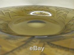 Signé DAUM ART DECO1930 importante vasque coupe dégagée à l'acide 2,2 KG