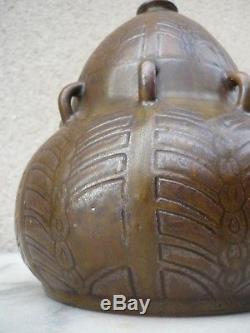 Superbe Gres Signe Primavera Vase Art Deco Nouveau Ceramique De La Puisaye