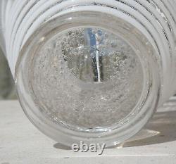 Superbe Vase Pate De Verre Art Deco Applications De Filets Signe Daum Nancy 1925