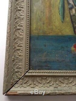 Tableau ancien Georgette DUPOUY (1901-1992) Musée de DAX Bouquet Fleurs Huile
