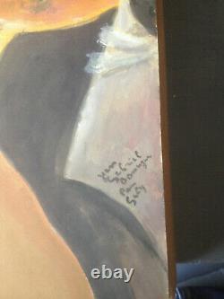 Tableau peinture belle époque porte signature Domergue Jean Gabriel