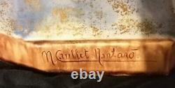 Terre cuite religieuse signée caullet montard art déco ttbe