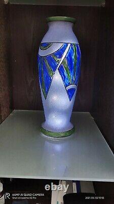 Vase Français Art Déco signé en partenariat avec Daum dans les années 30
