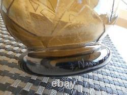 Vase art déco dégagé à l'acide signé Daum Nancy France