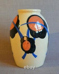 Vase art deco signé Simone LARRIEU 1940 1950