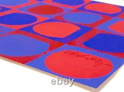 Victor Vasarely 1963 sérigraphie originale rare signée par lartiste /Art/Déco