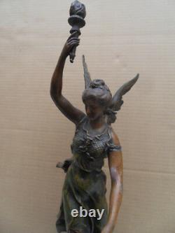 Vintage statue art deco ou nouveau! La Gloire au Travail signé CHarles VELY