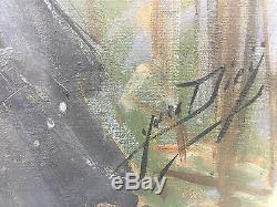 Yves Diey, Huile Sur Toile époque Art Deco, Signée